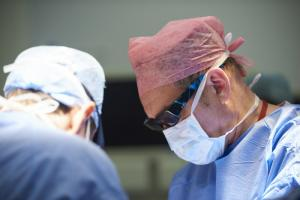 Surgeon in theater during operation